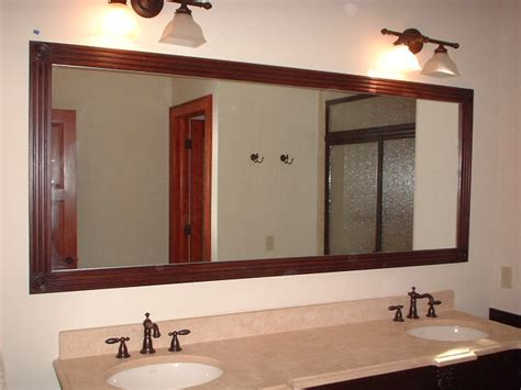 Framed Bathroom Mirror Ideas Framed Bathroom Mirrors Ideas Home Interior Design
