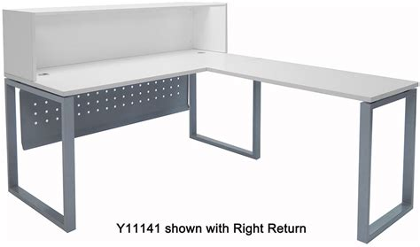 trendspaces white l shaped reception desk