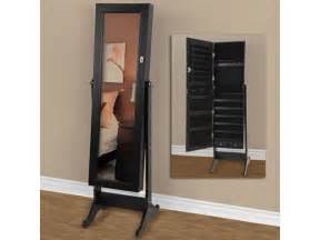 Length Mirrored Jewelry Armoire Length Mirror With Jewelry Storage Mirrored Jewelry