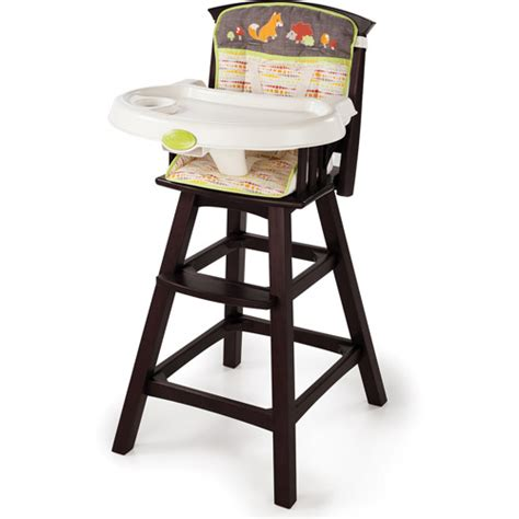 summer infant classic comfort wood high chair fox