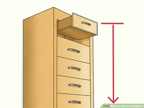 how to remove file cabinet drawers image titled remove drawers step 1 office furniture