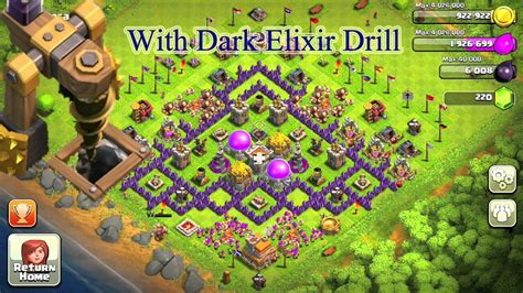 coc base 7th hd image dawnload clash of clans town hall 7 th7 farming base with dark