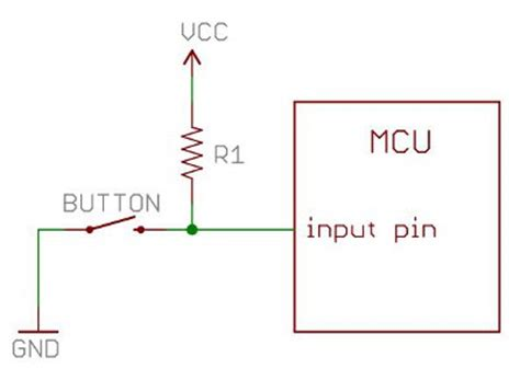 how does a pull up resistor work loading leds