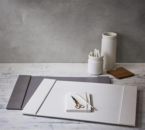 Mckenna Home Office Desk Blotter Pottery Barn White Desk Blotter