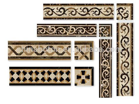 Natural Stone Waterjet Mosaic Border For Wall,Marble