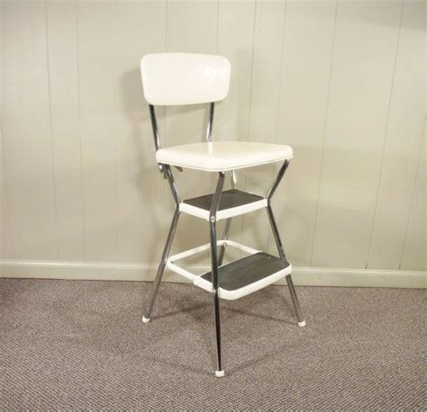 Cosco Retro Step Stool by Retro Cosco 50s Vintage Step Stool Kitchen Stool Chair