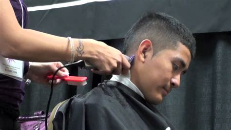how to cut womens hair with clippers haircutting faux hawk clipper cut for men youtube