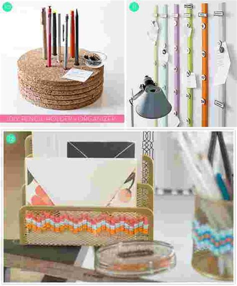 Roundup 15 Diy Office Storage And Organization Ideas Diy Desk Organization