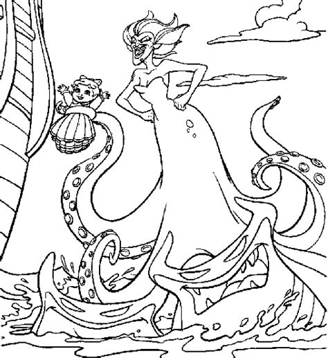 the little mermaid 2 baby melody coloring pages www