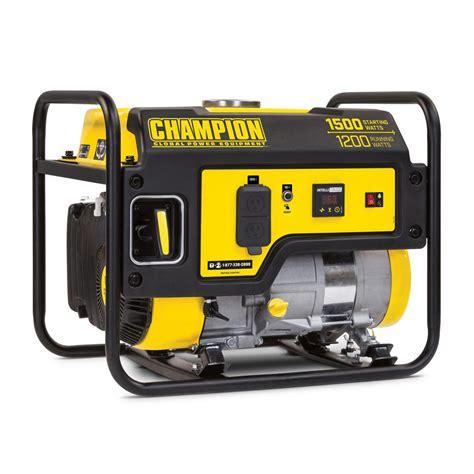 Genset 1200 Watt Np1500e 1 chion power equipment 1 200 watt gasoline powered recoil start portable generator with