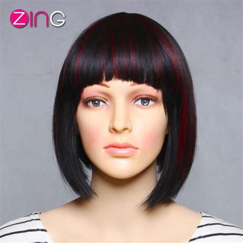 cortes de cabello 2016 en rojo y negro chispa de moda las pelucas cosplay baratas lindo corto