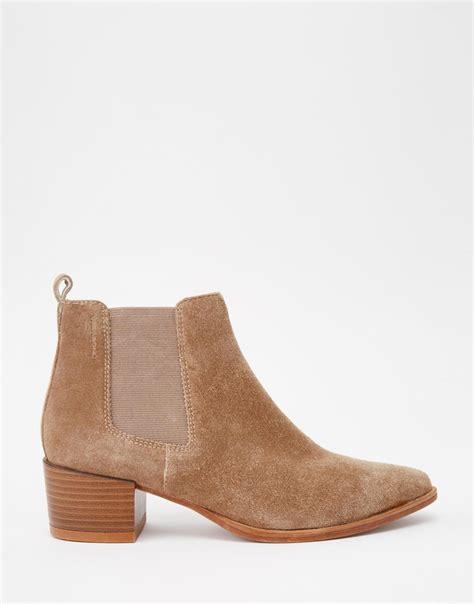 vagabond emira beige suede ankle boots beige in brown lyst