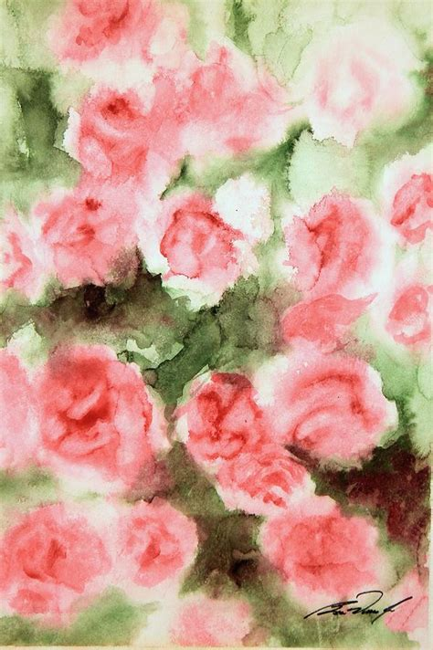 bed of roses painting by ben vines jr