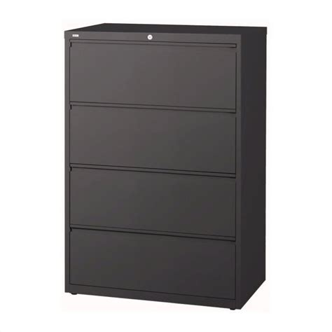 Lateral File Cabinet 4 Drawer 4 Drawer Lateral File Cabinet In Charcoal 16071
