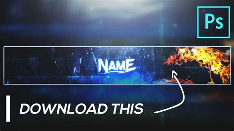 gaming banner template  gfx youtube channel art
