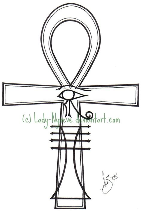 egyptian cross tattoos cross ankh with eye of horus design