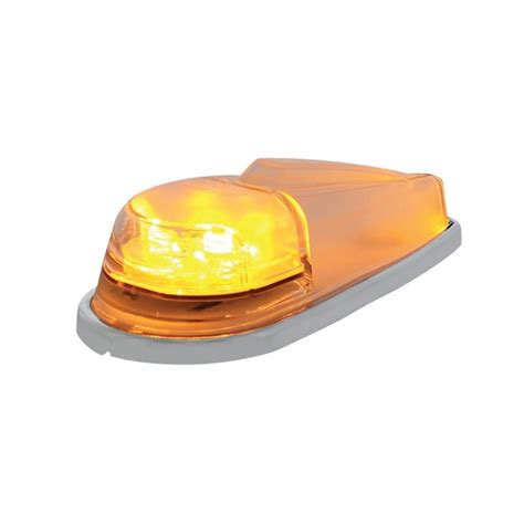 amber led book light 6 led pickup cab marker light amber led with clear lens