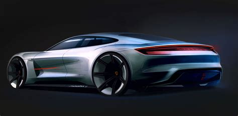 porsche concept sketch porsche mission e concept design sketch car body design