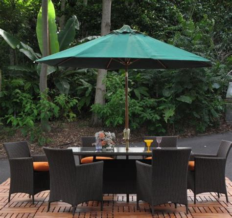hudson outdoor resin wicker 7 pc rectangle dining set made