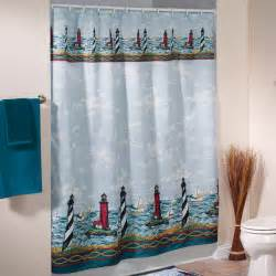 Lighthouse shower curtain nautical shower curtain walter drake