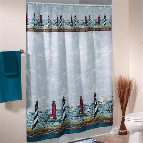 Lighthouse Shower Curtains Lighthouse Shower Curtain Nautical Shower Curtain Walter