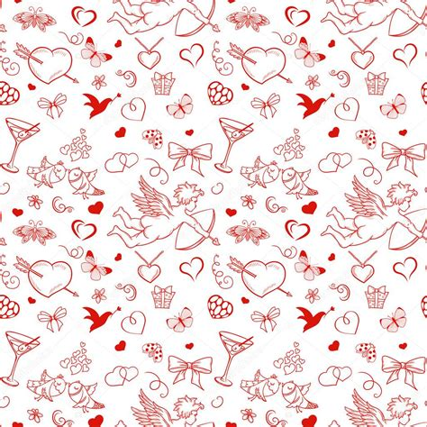 valentines day pattern seamless pattern for s day with cupid coattail