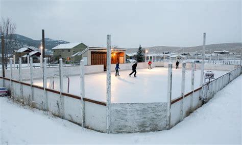 homemade backyard ice rink backyard ice homemade skating rinks pop up around missoula