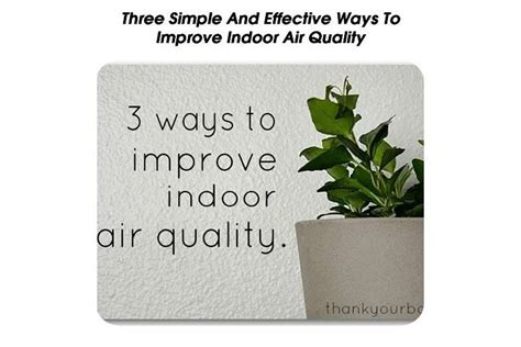 three simple and effective ways to improve indoor air quality