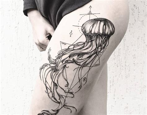 jellyfish tattoo diana severinenko design of