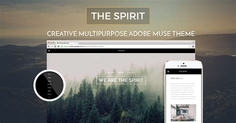 The Spirit Beautiful Natural And Creative Adobe Muse Template Adobe Muse Ecommerce Templates