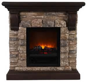 Fireplace Faux Stone Portable Fireplace Large Traditional