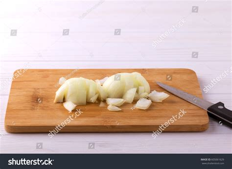cooking chopped on wooden cutting stock photo
