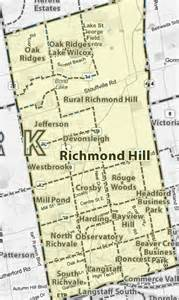 map of richmond hill ontario canada treb map