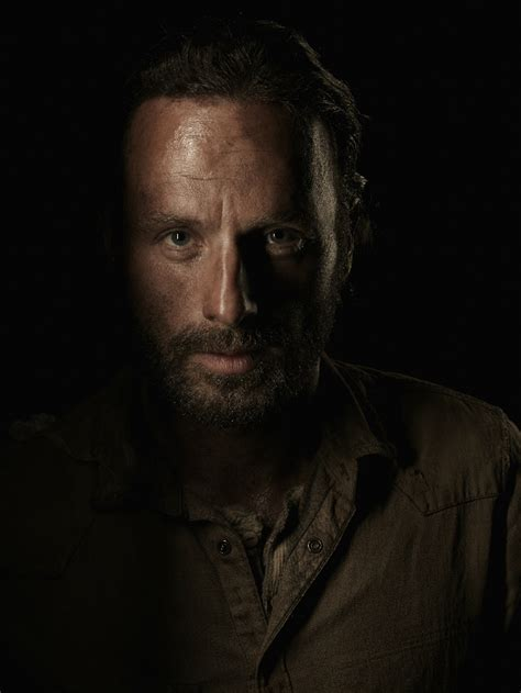 andrew lincoln rick grimes the walking dead cast is reanimated in new season 4 portraits