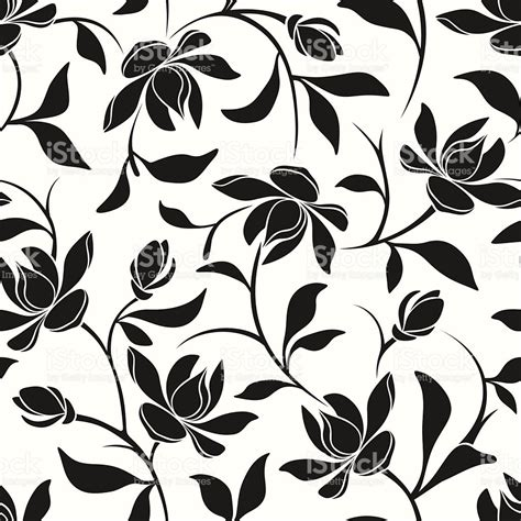 flower pattern drawing vector seamless black and white floral pattern vector