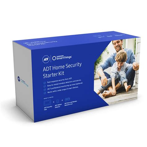 samsung smartthings adt home security starter kit f adt