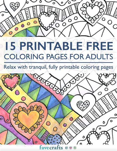 15 Printable Free Coloring Pages For Adults Pdf Coloring Pages For 15 And Up Free