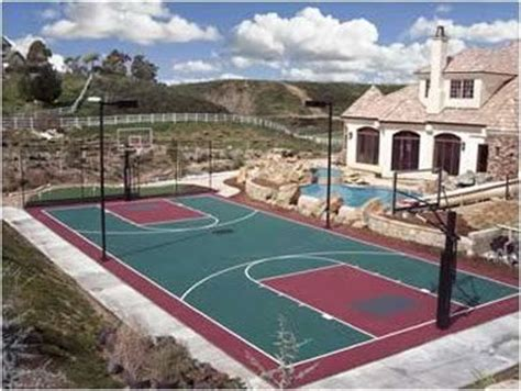 backyard pool and basketball court ok i think this would do it house pinterest
