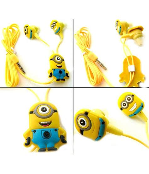 best buy zebra headphones zebra minions 2 earphones with 3 5 mm yellow buy