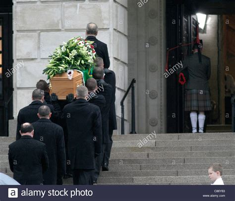 george best funeral george best coffin is lead into the great at