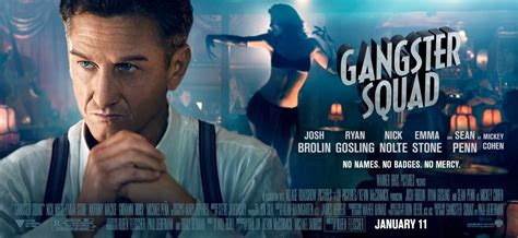 gangster film on sky gangster squad character banners featuring ryan gosling