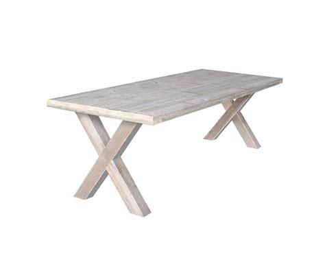 steigerhouten tafel 4 meter kruispoot tafels hout x poot steigerhout en teak