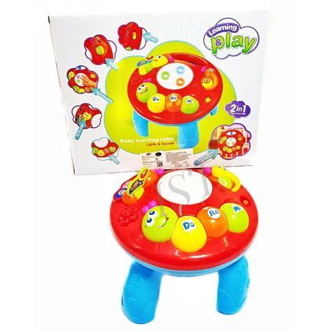 Mainan Bayi Musical Learning Table musical learning table merah 1096 2in1 kado mainan anak