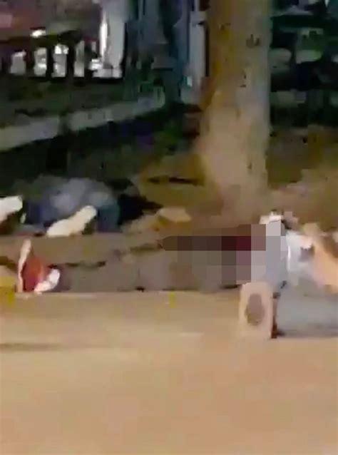 Bodies On The Floor by Breaking Five Jihadis Wearing Belts Dead By