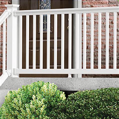 Porch Railing kontiki deck railing vinyl prestige classic classic white rail kit 36 quot x96 quot