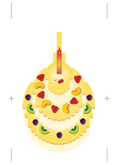 Birthday Cake Kirigami Pop Up Card Template by Pop Up Birthday Cake Tutorial Paper Cutting