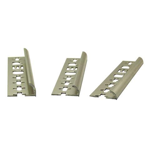 Kitchen Cabinet Trim Molding qep 10mm x 2 4m aluminium round edge tile trim bunnings