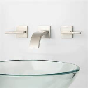 Wall Faucets For Bathroom by Ultra Wall Mount Bathroom Faucet Lever Handles