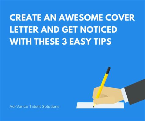 Awesome Cover Letter Tips Create An Awesome Cover Letter And Get Noticed 3 Tips