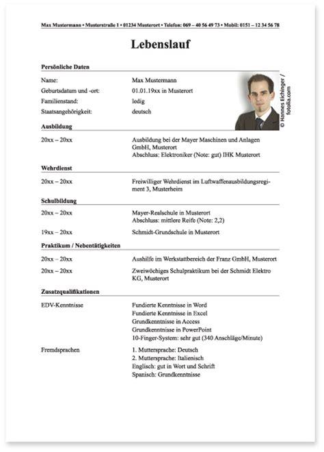 Lebenslauf Muster Nach Bundeswehr Die Bewerbung Bei Der Bundeswehr Der Lebenslauf Die Ausbildung Bei Der Bundeswehr